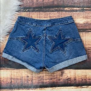 Pacsun Super High Rise Star Denim Jean Shorts